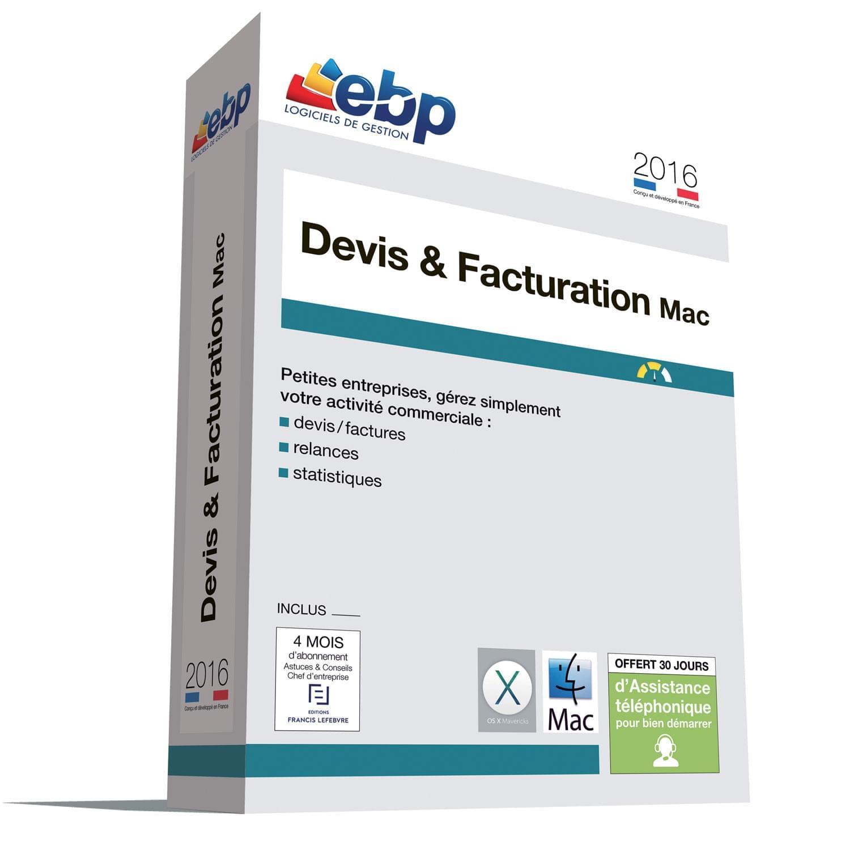 EBP Devis et Facturation MAC 2016 (1097J080FAA) - Achat / Vente Logiciel Application sur Cybertek.fr - 0