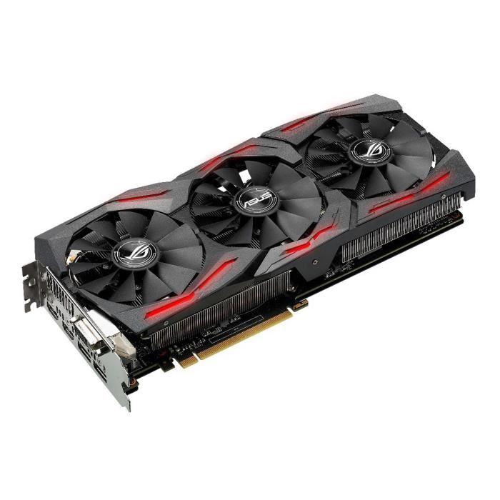 Asus GeForce STRIX-GTX1080-8G-GAMING (STRIX-GTX1080-8G-GAMING) - Achat / Vente Carte Graphique sur Cybertek.fr - 1
