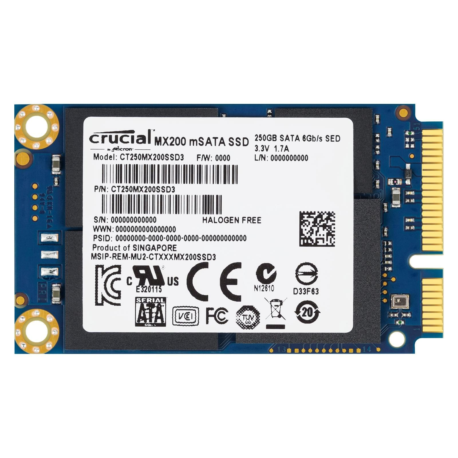 Crucial CT250MX200SSD3 240-275Go - Disque SSD Crucial - 0