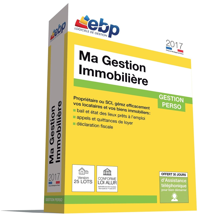 EBP Ma Gestion Immobilière 2017 version 25 Lots (1053E060FAW) - Achat / Vente Logiciel Application sur Cybertek.fr - 0