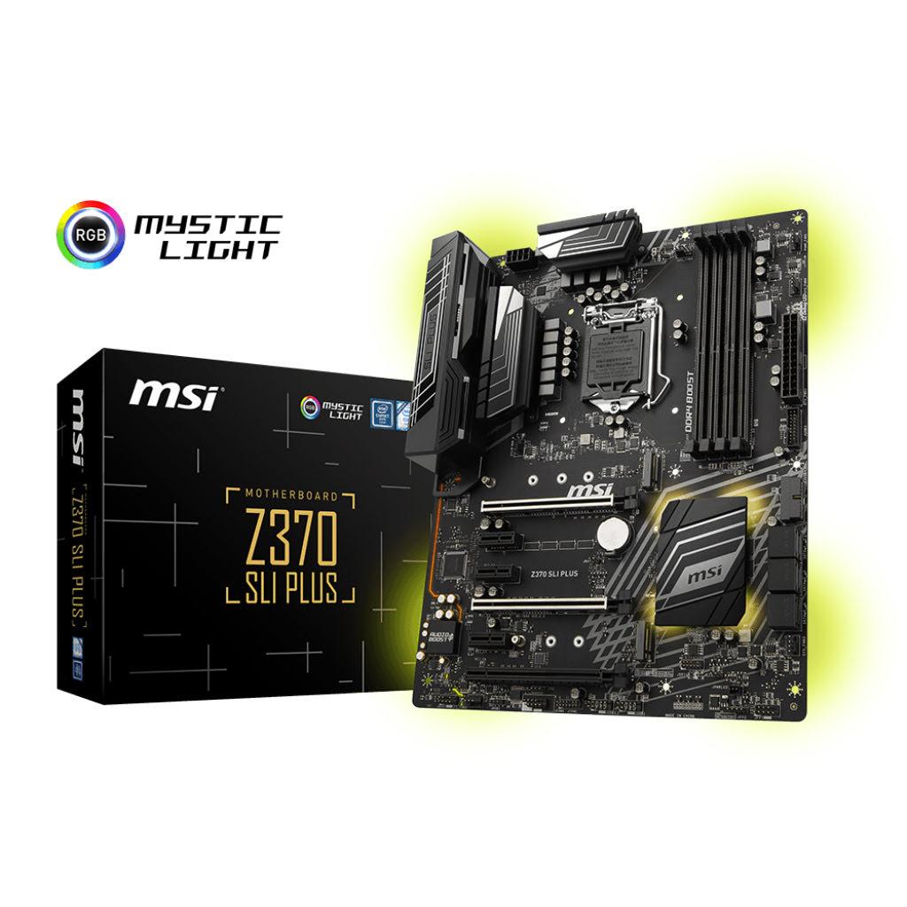 MSI Z370 SLI PLUS ATX DDR4 - Carte mère MSI - Cybertek.fr - 0