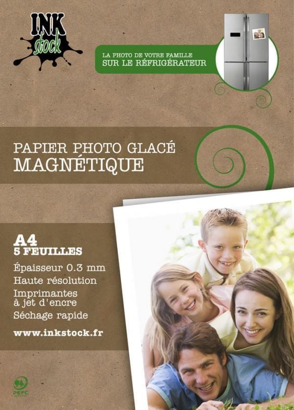 Papier Photo Glacé Magnétique A 5f. 0.3mm - InkStock - Cybertek.fr - 0