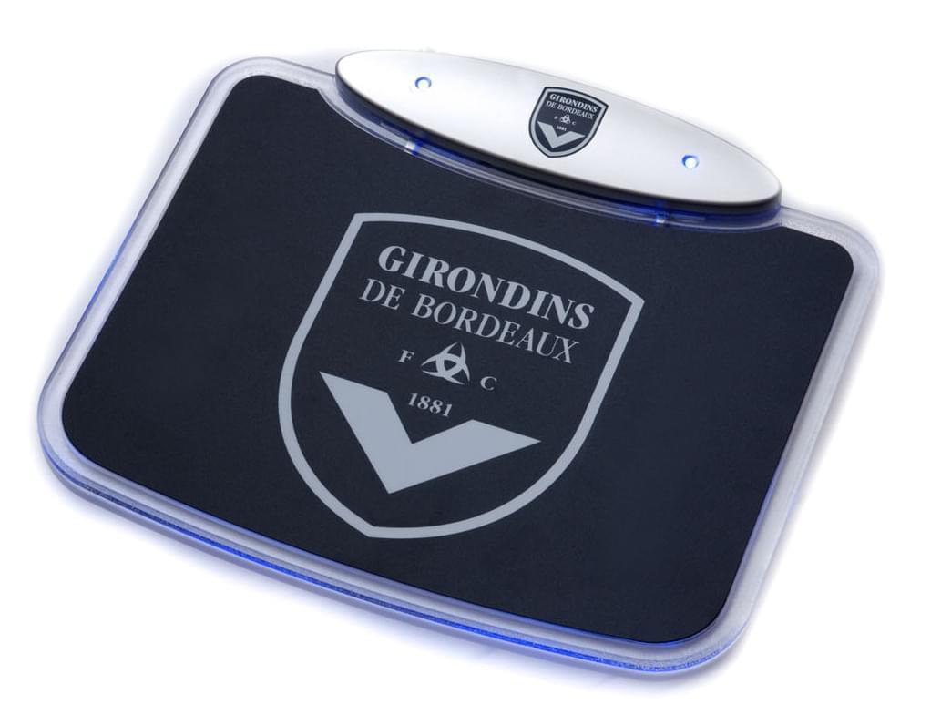 """Souris PC MAD-X """"Girondins de Bordeaux"""" Tapis/Hub USB - BORH-01  - 0"""