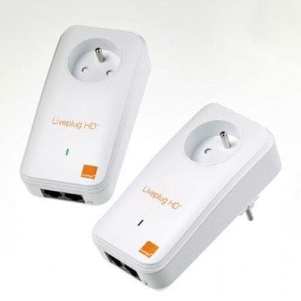 Orange Liveplug HD+ DUO 500 (LIVEPLUG HD+ DUO 500 MBITS/S) - Achat / Vente Adaptateur CPL sur Cybertek.fr - 0
