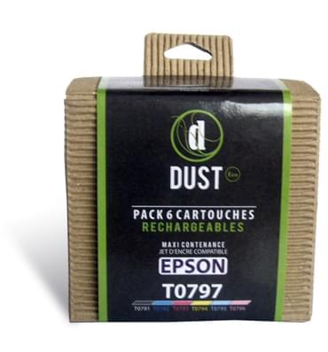 DUST Eco Pack 6 cart. rechargeables T0797 - Cybertek.fr - 0