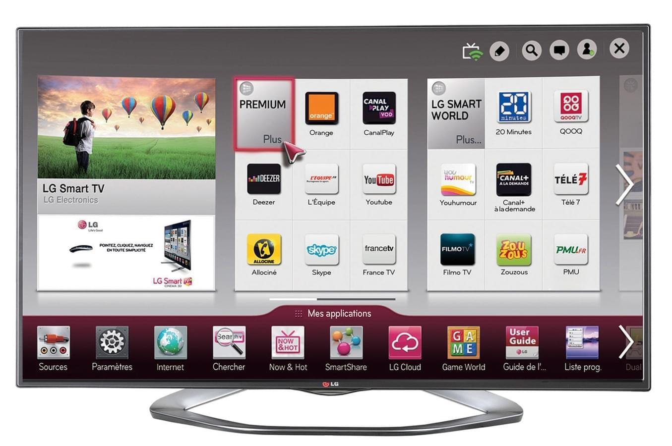 LG 55LA620S (55LA620S) - Achat / Vente TV sur Cybertek.fr - 0