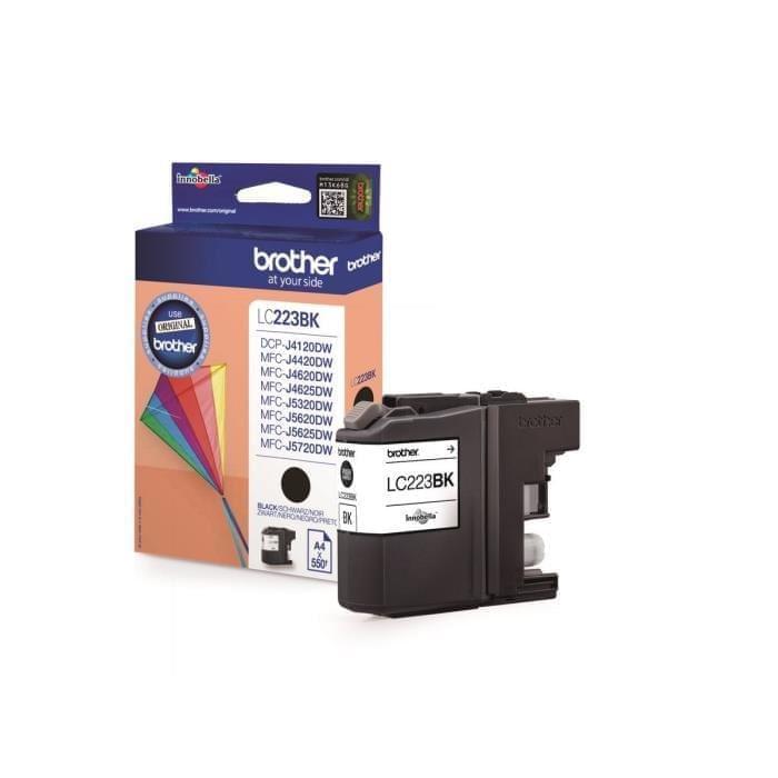 Cartouche LC223BK Noir pour imprimante Jet d'encre Brother - 0