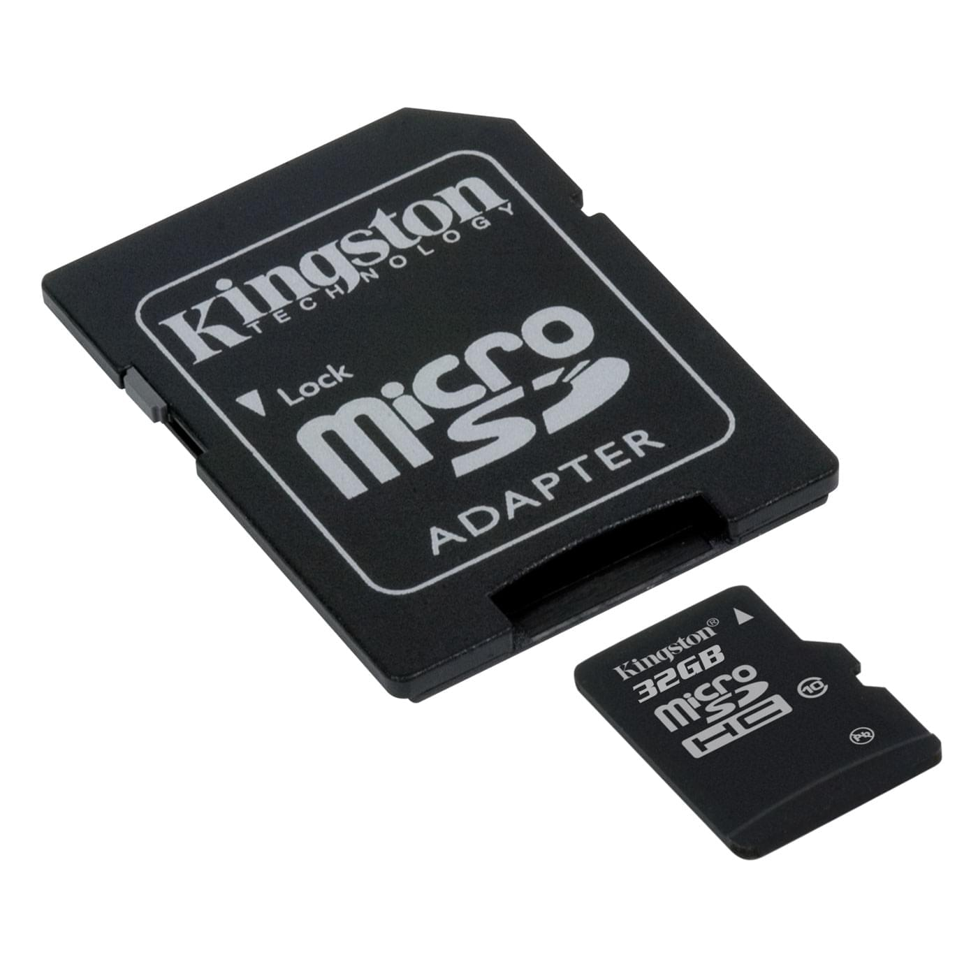 Kingston Micro SDHC 32Go SDC10/32GB class 10 + Adapt  (SDC10/32GB) - Achat / Vente Carte mémoire sur Cybertek.fr - 0