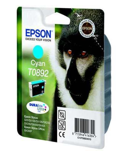 Cartouche T0892 Cyan pour imprimante Jet d'encre Epson - 0