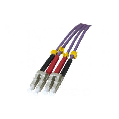 Cordon fibre optique OM3 LC/LC 50/125 -1m - Connectique réseau - 0