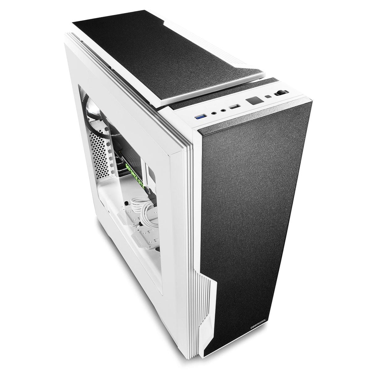 Deepcool DUKASE V2 Blanc - mT/Ss Alim/ATX (DUKASE WHV2) - Achat / Vente Boîtier PC sur Cybertek.fr - 2