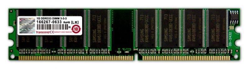 Barrette de ram PC Transcend 1Go  DDR - 0