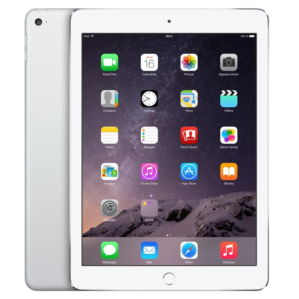 Apple iPad Air 2 Wi-Fi 16Go Argent (MGLW2NF/A) - Achat / Vente Tablette Tactile sur Cybertek.fr - 0