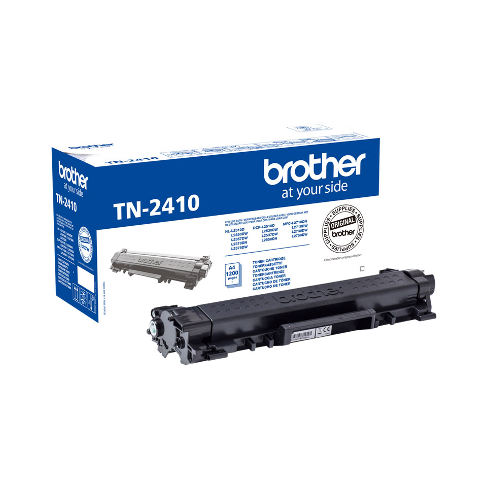 Toner Noir 1200 p. TN2410 pour imprimante Laser Brother - 0