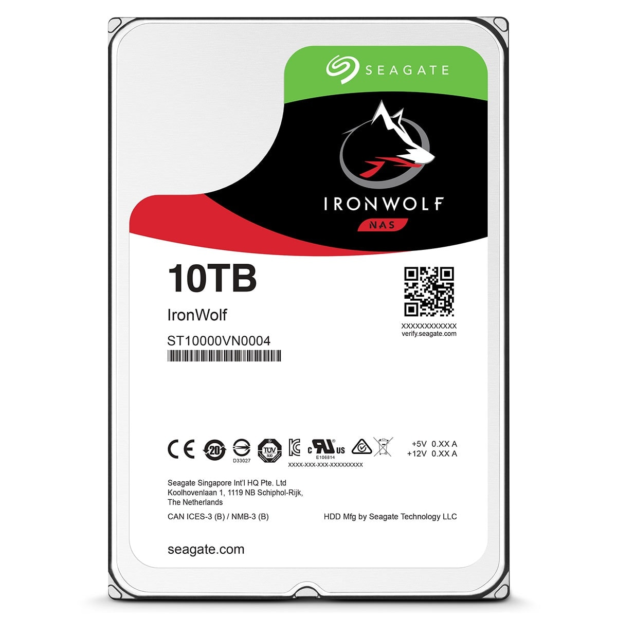 "Seagate 10To SATA III 256Mo IronWolf ST10000VN0004 - Disque dur interne 3.5"" - 2"