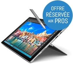 Microsoft Tablette Tactile Surface Pro 4 - M3-6Y30/4Go/128Go/12.3