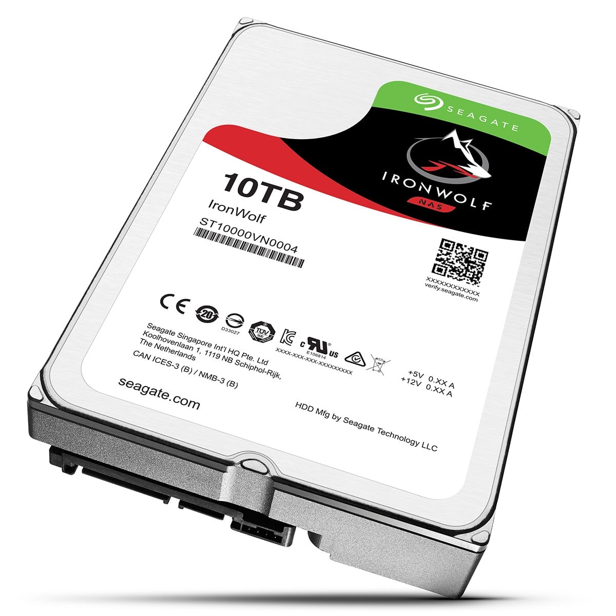 "Seagate 10To SATA III 256Mo IronWolf ST10000VN0004 - Disque dur interne 3.5"" - 0"