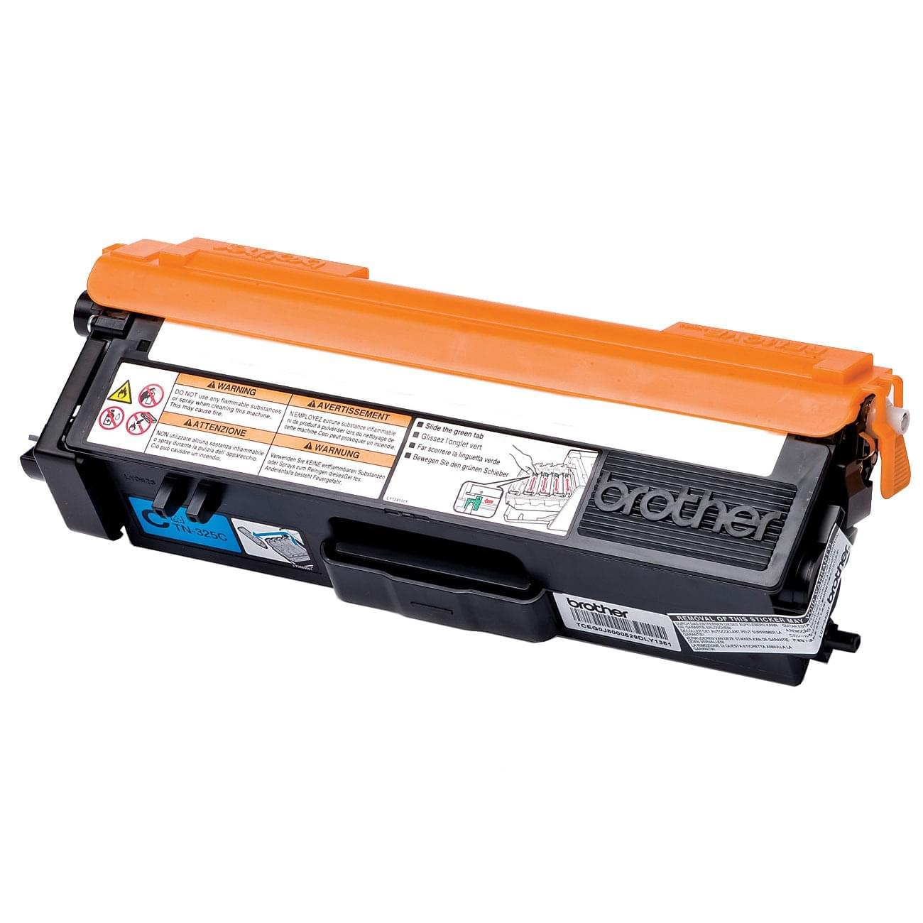 Toner TN320C Cyan - 1500p pour imprimante Laser Brother - 0