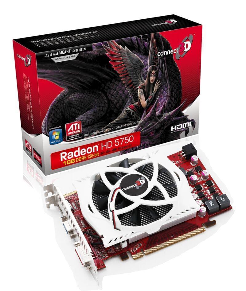 Connect 3D Radeon HD 5750 (soldé) - Achat / Vente Carte Graphique sur Cybertek.fr - 0