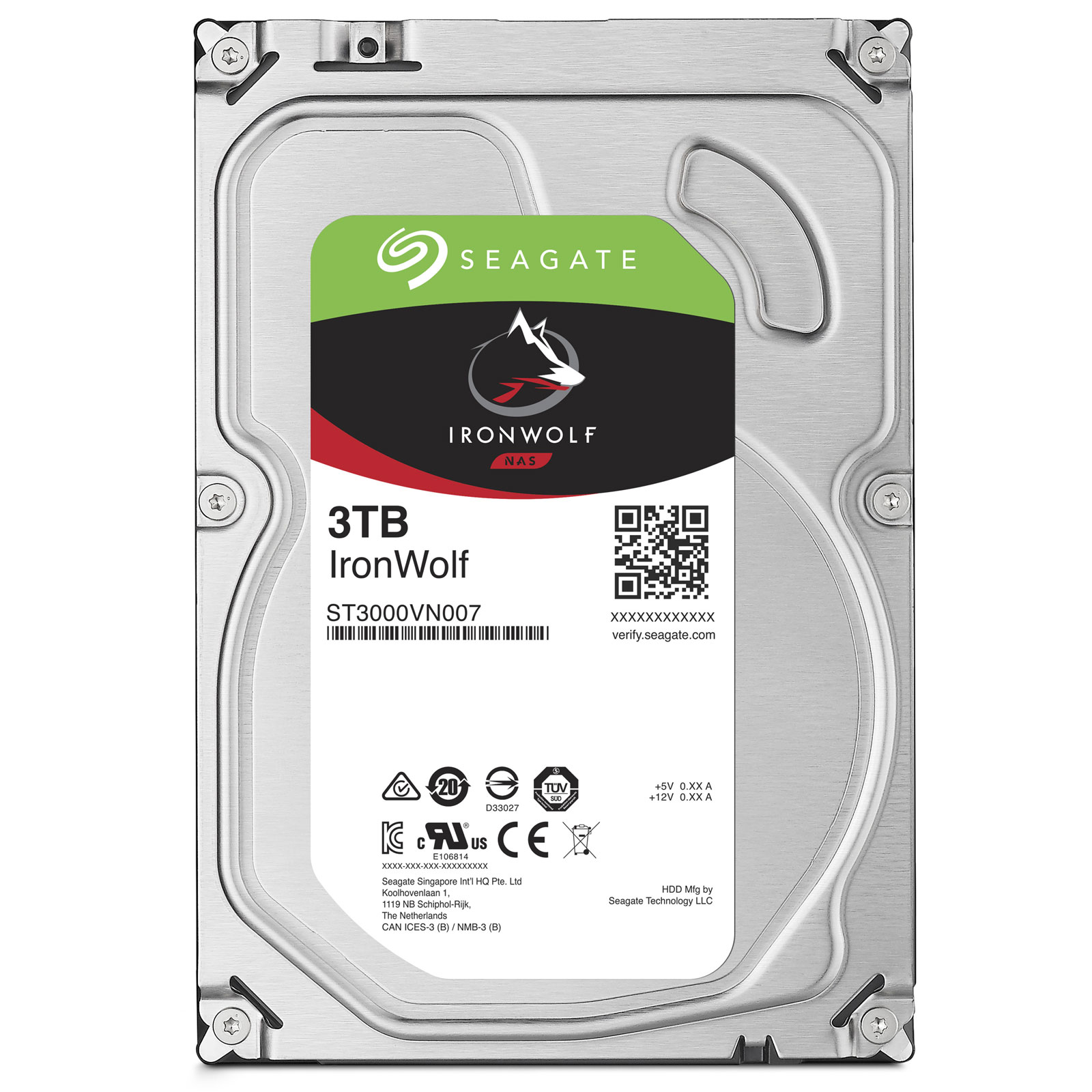 """Seagate 3To SATA III 64Mo IronWolf ST3000VN007 - Disque dur interne 3.5"""" - 0"""