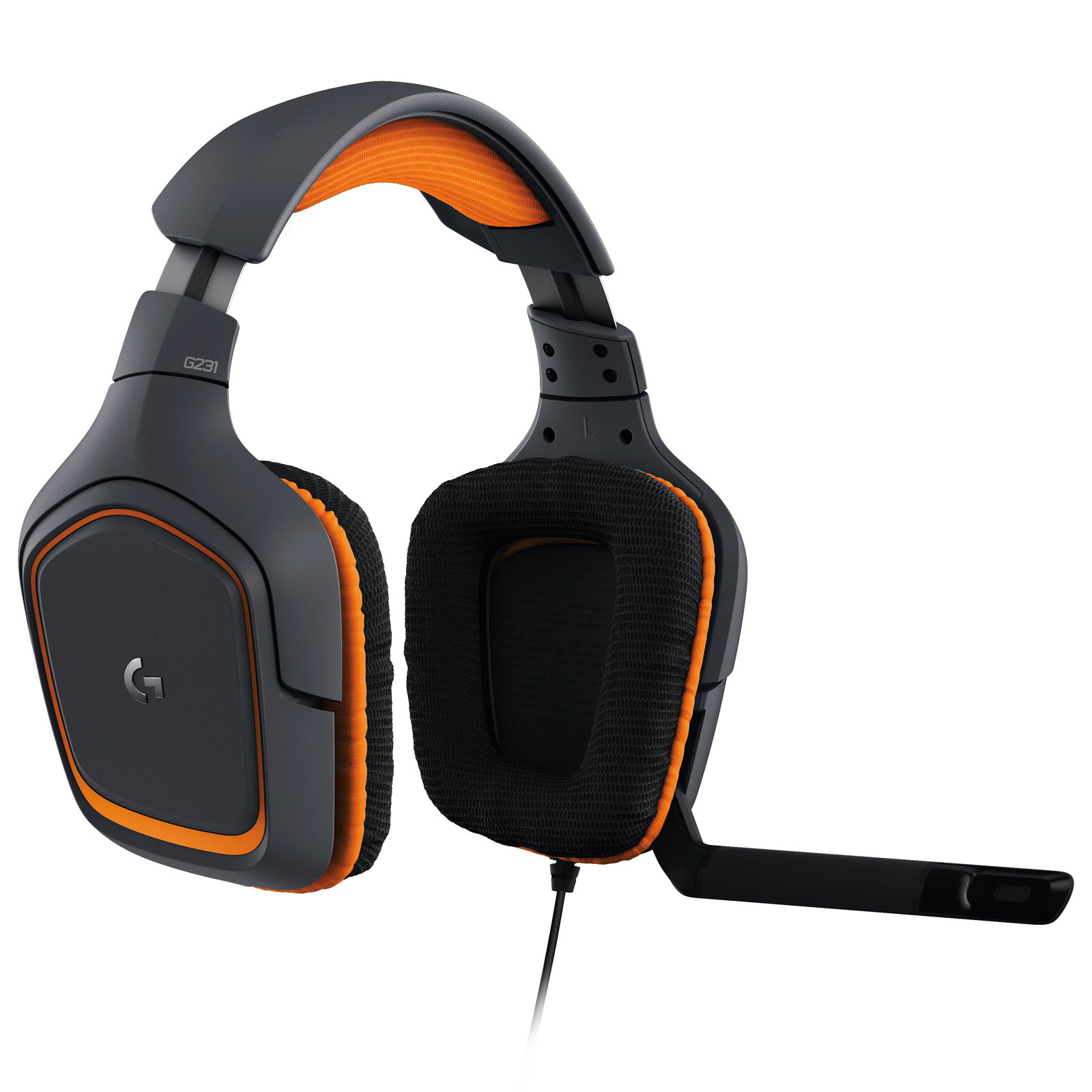 Logitech G231 Prodigy Gaming Headset Stereo Orange - Micro-casque - 4