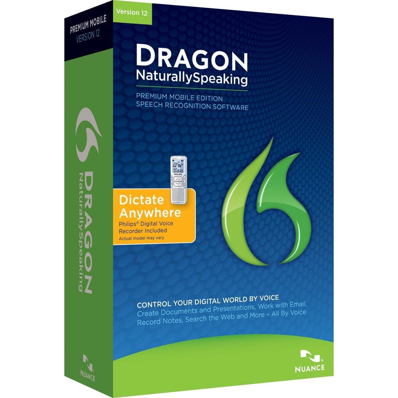 Nuance Dragon Naturally Speaking Premium Mobile V12 (K609F-WC3-12.0) - Achat / Vente Logiciel application sur Cybertek.fr - 0