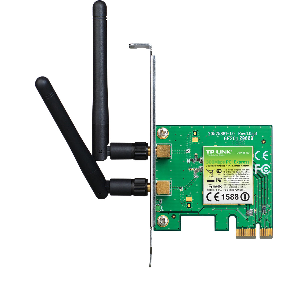 TP-Link PCI-E WiFi 802.11N 300Mbits - TL-WN881ND - Carte réseau - 0