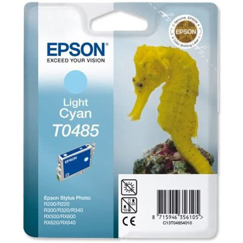 Consommable imprimante Epson Cartouche T0485 Stylus Photo R200/300 Cyan Clair