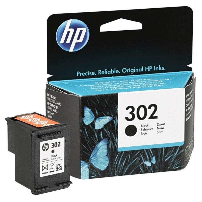 Cartouche d'encre Noir HP 302 - F6U66AE pour imprimante Jet d'encre HP - 0