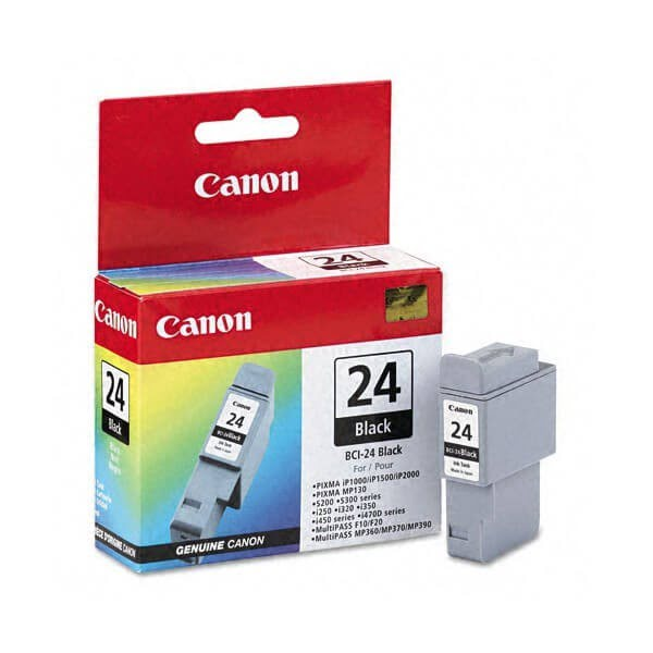 Cartouche BCI 24 Noire - 6881A002 pour imprimante Jet d'encre Canon - 0