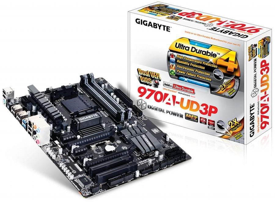Gigabyte 970A-UD3P (970A-UD3P) - Achat / Vente Carte Mère sur Cybertek.fr - 0