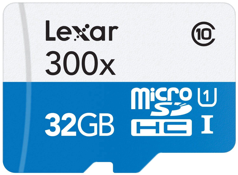 Lexar Micro SDHC 32Go c10 300x +Adapt. LSDMI32GBB1EU300A (LSDMI32GBB1EU300A) - Achat / Vente Carte mémoire sur Cybertek.fr - 0