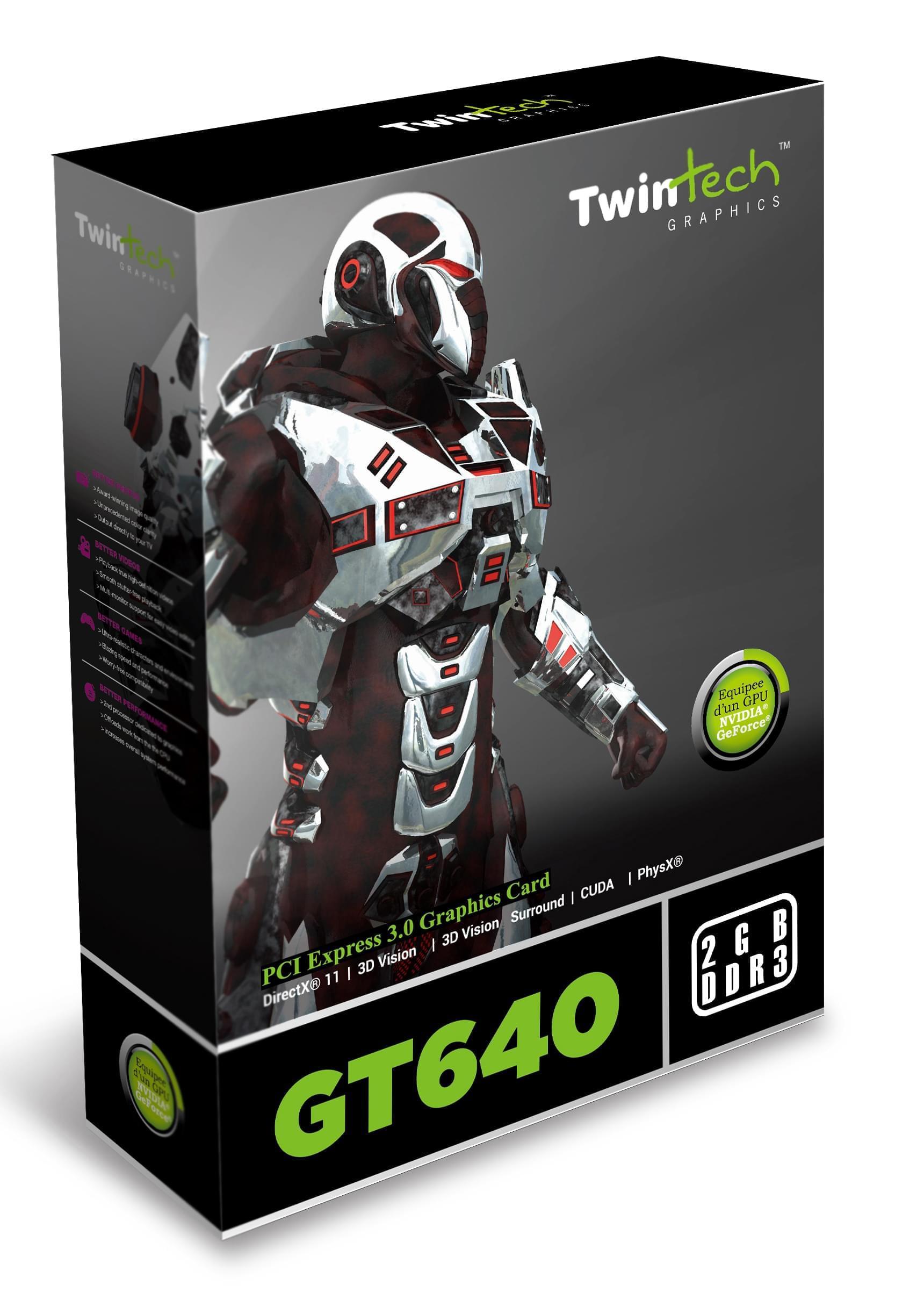 Twintech GF GT 640 2Go - Carte graphique Twintech - Cybertek.fr - 0