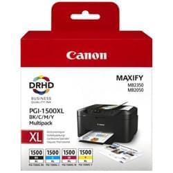 image produit Canon Pack 4 Cartouches BK,C,M,Y PGI-1500XL - 9182B004 Cybertek