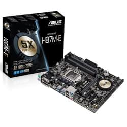 Asus Carte Mère H97M-E - H97/LGA1150/DDR3/PCI-E/mATX Cybertek