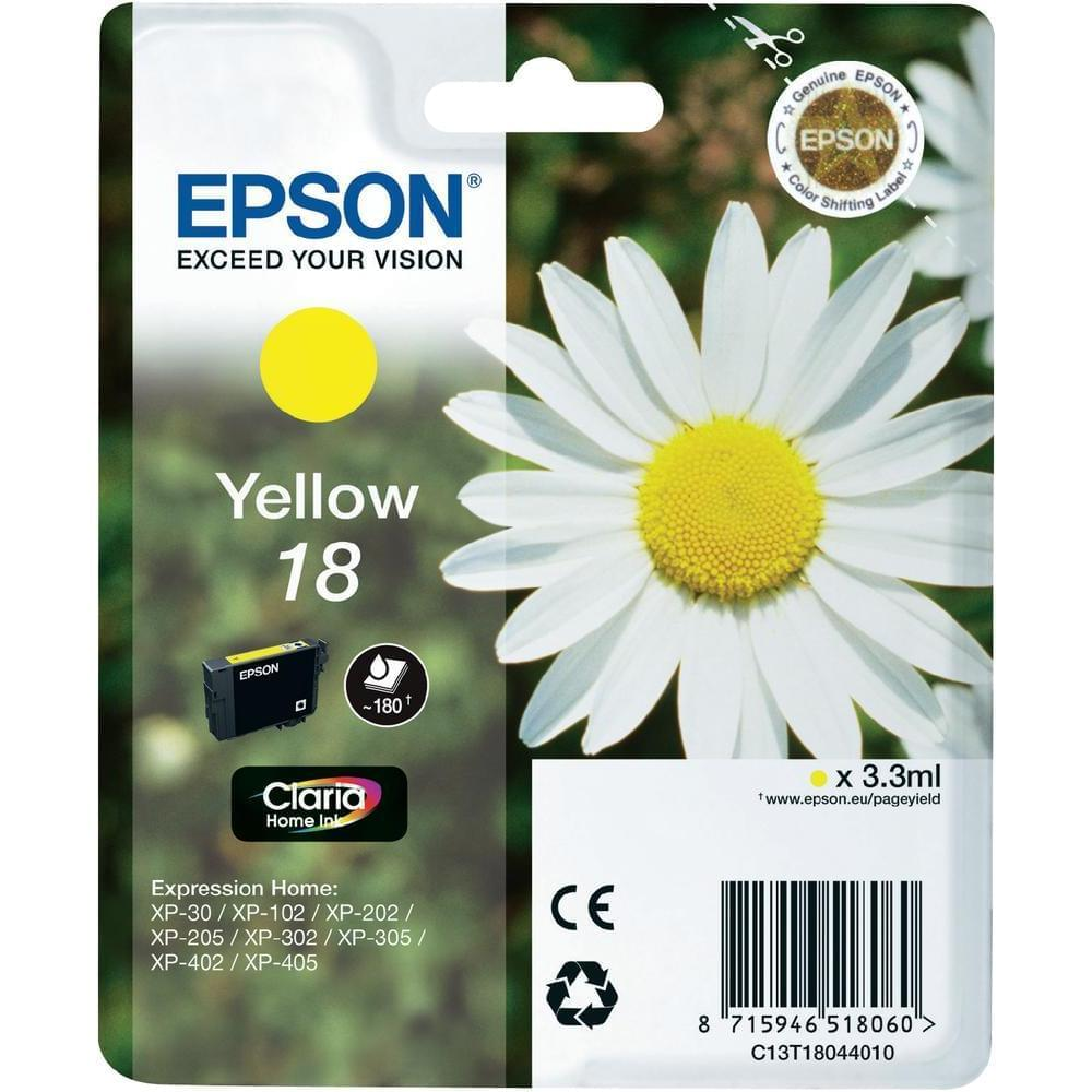 Epson Cartouche T1804 Jaune (C13T18044010) - Achat / Vente Consommable imprimante sur Cybertek.fr - 0