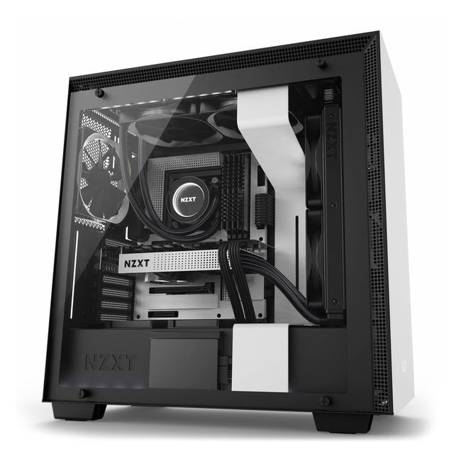 NZXT MT/Sans Alim/E-ATX Blanc - Boîtier PC NZXT - Cybertek.fr - 0