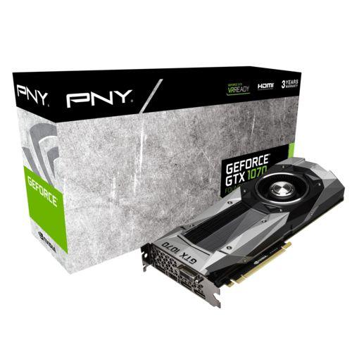 PNY GeForce GTX 1070 8GB GDDR5 (GF1070GTXCD8GEPB) - Achat / Vente Carte Graphique sur Cybertek.fr - 0