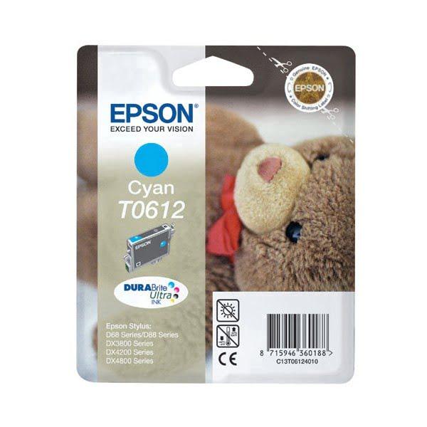 Epson Cartouche d'encre T0612 Cyan D88 (C13T061240) - Achat / Vente Consommable imprimante sur Cybertek.fr - 0