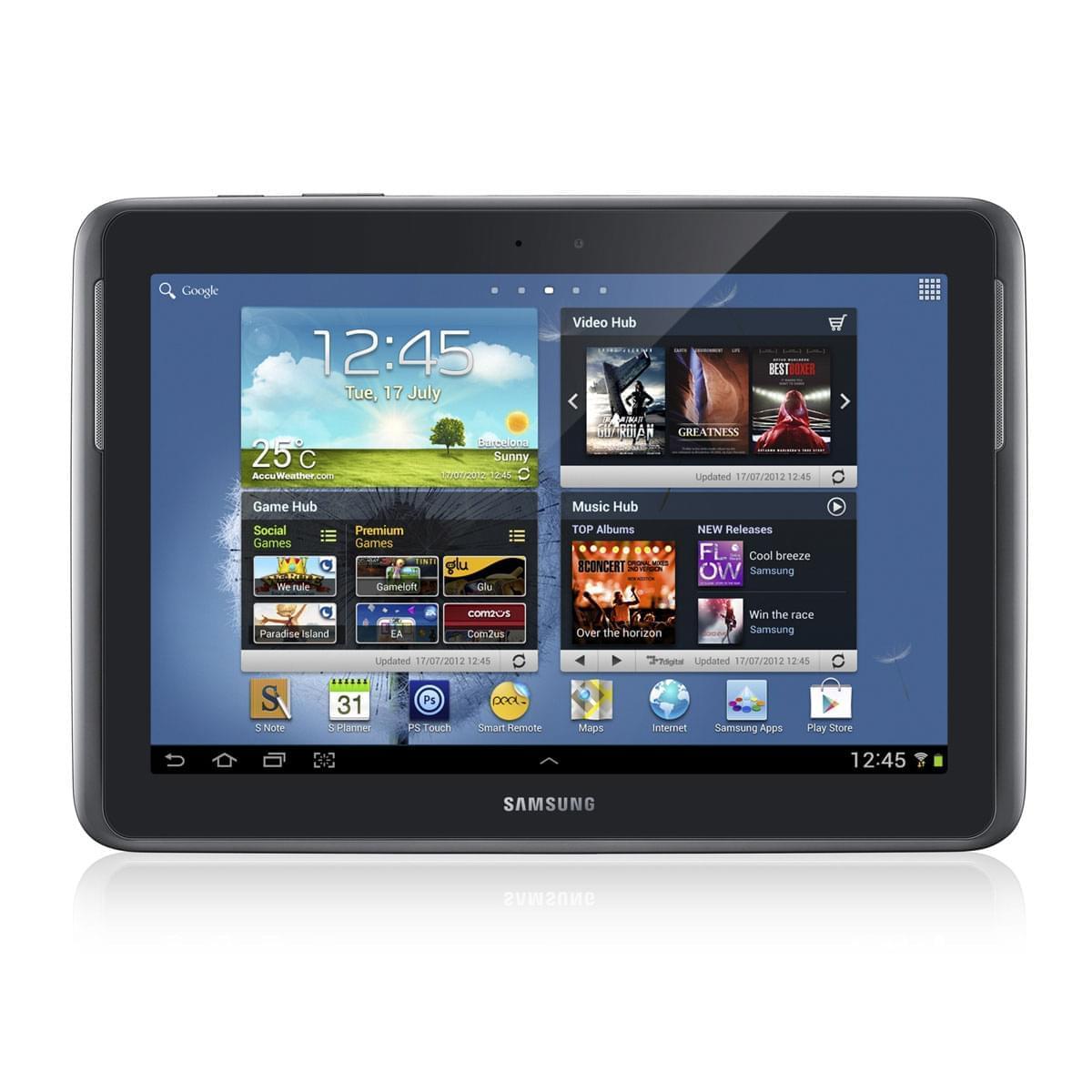 "Samsung Galaxy Note 10.1 N8000EAE-Argent/32Go/3G/10.1""/ICS (GT-N8000EAEXEF) - Achat / Vente Tablette Tactile sur Cybertek.fr - 0"