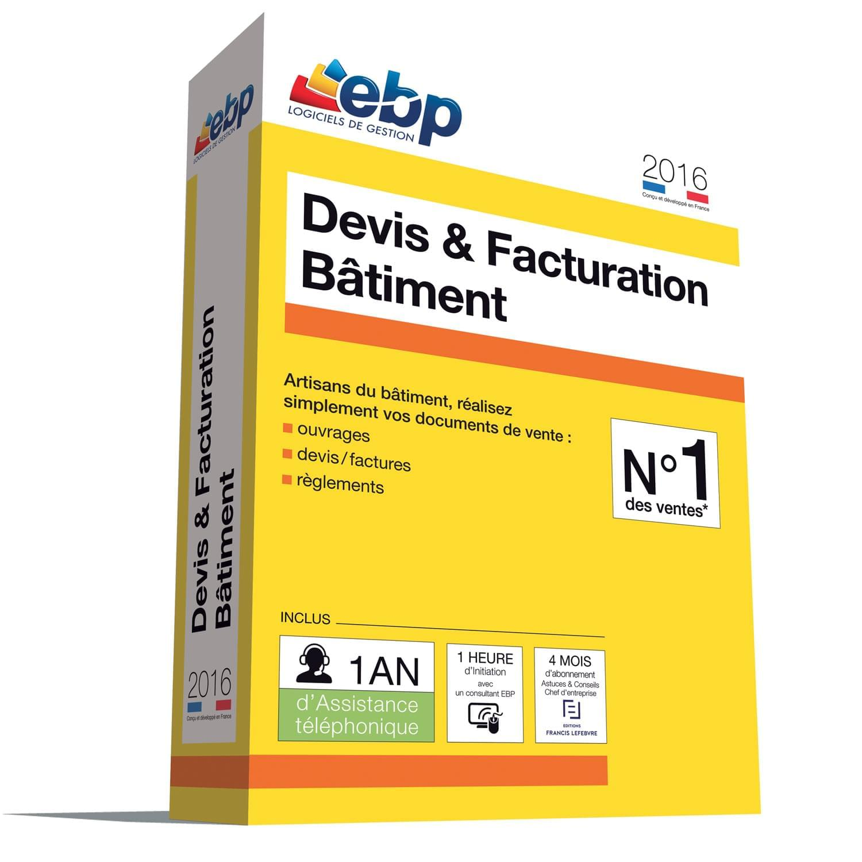 EBP Devis & Facturation Bâtiment 2016 + VIP (1088J171FAA) - Achat / Vente Logiciel Application sur Cybertek.fr - 0