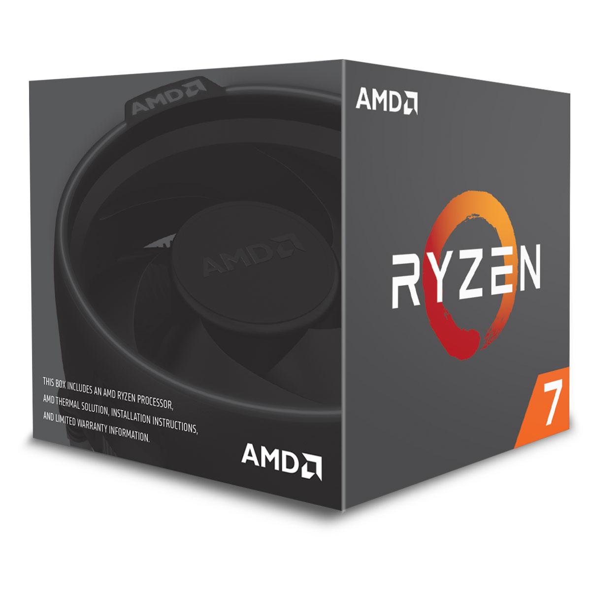 AMD Ryzen 7 2700 - 4.1GHz - Processeur AMD - Cybertek.fr - 1