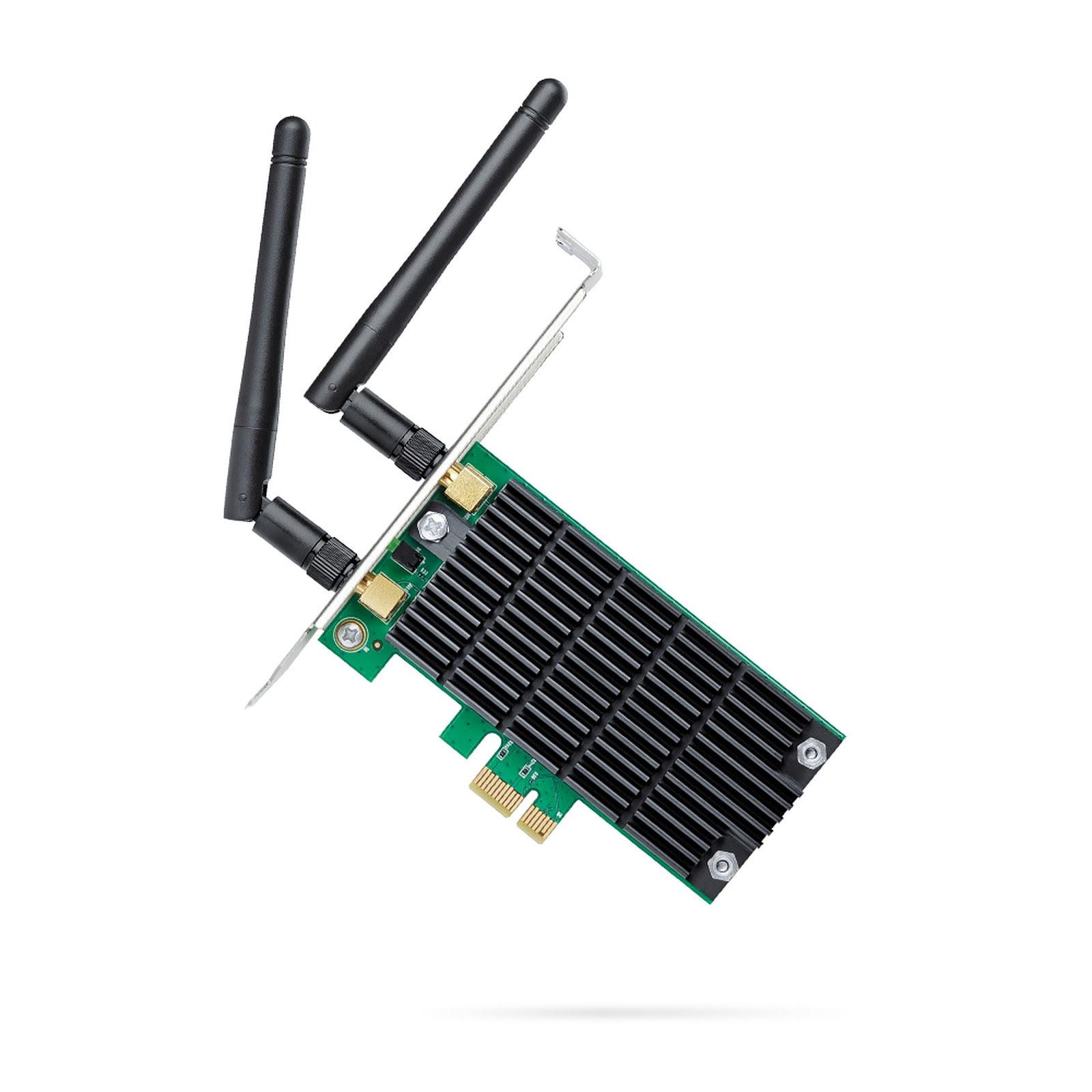 TP-Link PCI-E WiFi 802.11AC 1200Mbits - ARCHER T4E - Carte réseau - 0