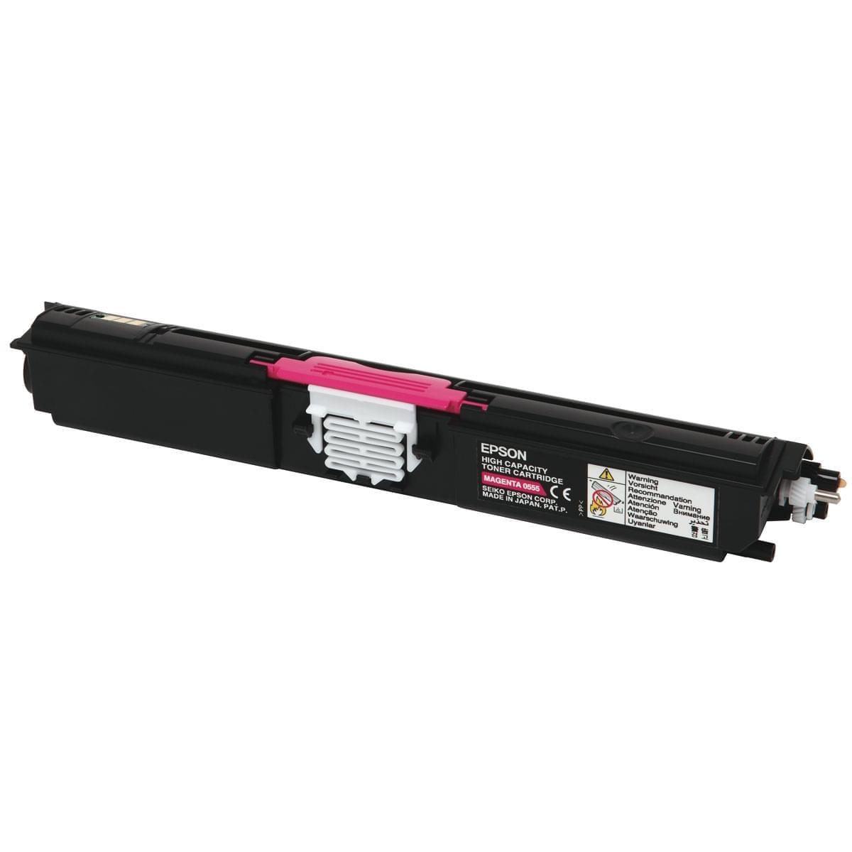 Toner Magenta Haute Capacité 2700p - C13S050555 pour imprimante Laser Epson - 0