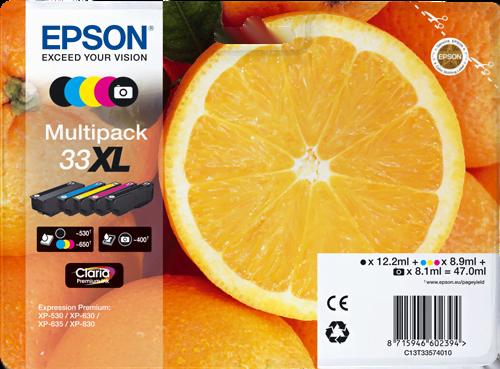 Multipack Cartouche 33XL - C13T33574010 pour imprimante  Epson - 1