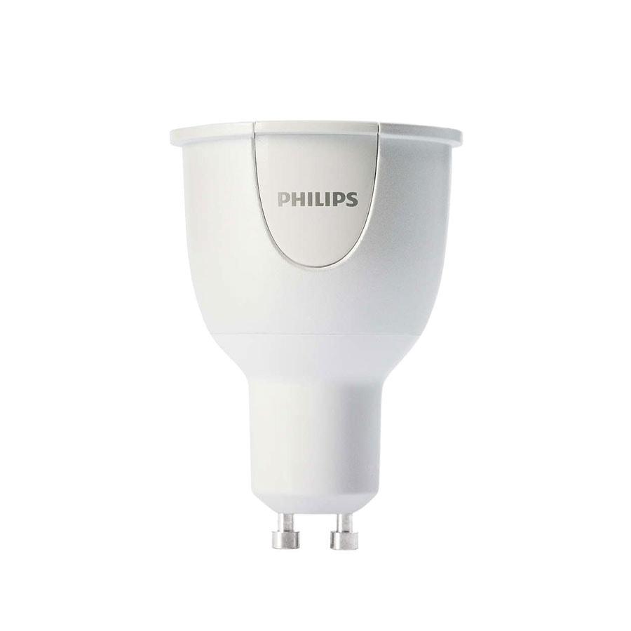 Philips HUE - Ampoule LED Blanche et Couleur 6,5W GU10 (929000261705) - Achat / Vente Objet connecté / Domotique sur Cybertek.fr - 0