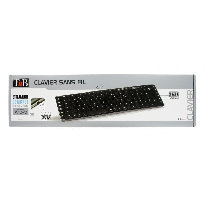 T'nB Streamline Slim Multimedia sans fil KBSWMBK - Clavier PC - 0