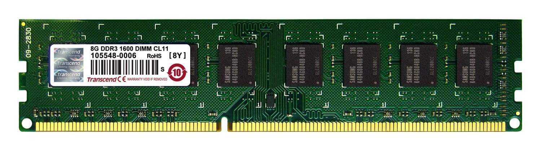 Transcend 8Go DDR3-1600 MHz PC3-12800 TS1GLK64V6H (TS1GLK64V6H) - Achat / Vente Mémoire PC sur Cybertek.fr - 0