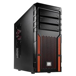 Cybertek Boîtier PC Xigmatek Asgard 381 Black/Orange - MT/Sans Alim/ATX