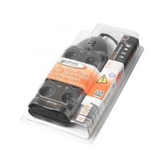 Infosec Parasurtenseur 8 connecteurs S8 (61272) - Achat / Vente Onduleur - Multiprises sur Cybertek.fr - 1